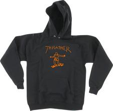 Thrasher Gonz Logo Mark Gonzales Black / Orange Hoodie Sweatshirt Authentic