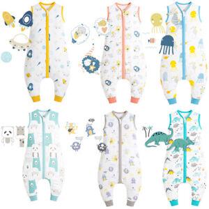 Baby Schlafsack Sommer Baumwolle 0.5 Tog Kinder Sommer Schlafsäcke mit Beinen-DE