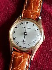 Ladies Vintage Zenith Gold Plated Swiss Made Ultra Slim Mechanical Wrist Watch