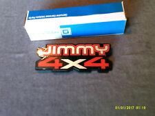GMC 83,90 JIMMY 4X4 fender name plate R/L ORIGINAL GM NOS