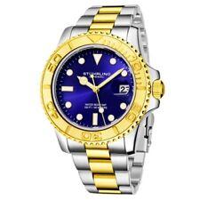Stuhrling 3967 5 Aquadiver Quartz Date Stainless Steel Bracelet Mens Watch