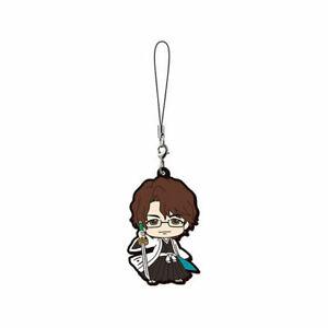 Bleach Mascot Swing Rubber Anime Strap SD Keychain Charm ~ Sosuke Aizen @27097
