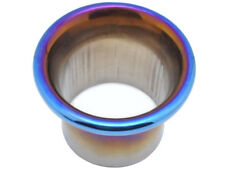"76mm Alloy Ram Pipe Air Inlet Intake Funnel Duct Ducting 3"" INCH Titanium Blue"