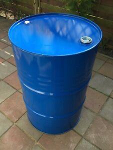 Metallfass 200 Liter Spund Blechfass Stahlfass Ölfass Feuertonne Behälter 200L