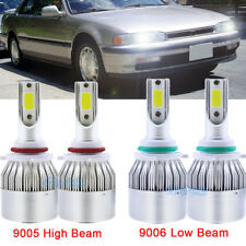 9006 9005 Hi-Low Beam LED Headlight Kit For Honda Accord 90-2012 Civic 2004-2015