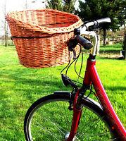 XL Hundefahrradkorb Hundekorb Einkaufskorb Fahrradkorb aus Weide gratis Kissen
