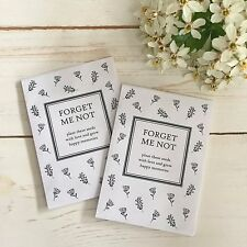 25 Unfilled Forget Me Not Seed Packet Funeral Favour Envelopes - Remembrance