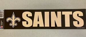 New Orleans Saints Vibrant Official NFL Team Logo Car Bumper Sticker Decor Decal