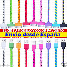CABLE DE DATOS CARGA PARA IPHONE 3 4 4G 4S IPAD IPOD USB PLANO, NYLON, LED