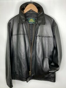 LONGCHAMP Women's Leather Simple Biker Jacket Black Made In Italy Size 50/14