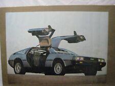 DE LOREAN DMC VINTAGE POSTER BAR GARAGE MAN CAVE 1983 CAR CNG1015