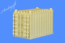 LEGO tan shipping container freight cargo  train road go with 60052 66493