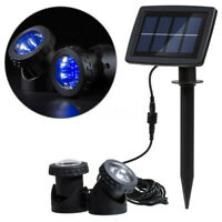 Solar Pond Lights 2 Submersible Lamps Underwater Lights for Garden Fount UK MCB