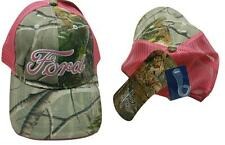 NEW CUTE FORD MOTOR COMPANY PINK CAMO CAMOUFLAGE WOMENS TRUCKER BASEBALL CAP HAT