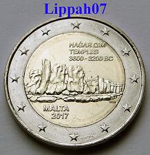 Malta speciale 2 euro 2017 Hagar Qim Tempels UNC direct leverbaar!