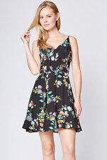 NWT YUMI KIM Athena Silk Sweet Sunshine Floral New Years Cocktail Dress black S