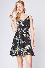 NWT YUMI KIM Athena Silk Sweet Sunshine Summer Floral Cocktail Dress black S