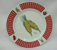 Fresh Vegetables Plate - 10 3/4 inch - Signed