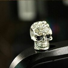 White Skull Anti Dust Plug For Samsung Galaxy S7 S6 S5 S4 S3 S2 Note 2 3 4 5