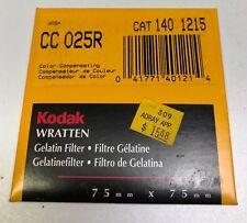 Kodak Wratten Gelatin Filter. 75mm x75mm .025r
