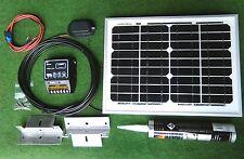 Panel Solar De 10w de 10 vatios y kit de montaje de techo completo traje Camper Camioneta Autocaravana Cobertizo