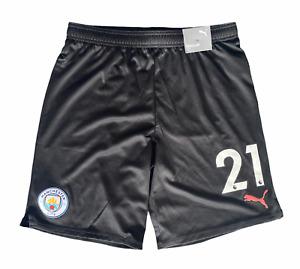 Manchester City Football Shorts Mens Puma Away Shorts - Number 21 - New