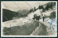 Brescia Ponte di Legno Spazzaneve Foto cartolina EE7830