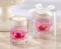 50 Pink Orchid Spring Flower Tea Light Candle Holder Bridal Wedding Favor