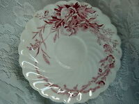 A.J.WILKINSON CLARICE CLIFF Harvest Burgundy Cup Plate/Saucer - Made in England