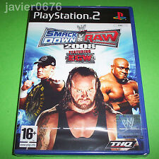 SMACK DOWN VS RAW 2008 NUEVO Y PRECINTADO PAL ESPAÑA PLAYSTATION 2 PS2