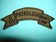 NAM WAR US SCROLL PATCH, US C Co 54th INFANTRY PATROL DOG
