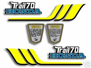 1977 Honda CT70 Trail 70 decal set