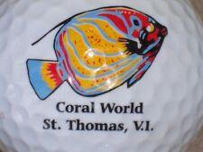 (1) ST THOMAS VIRGIN ISLANDS LOGO GOLF BALL (CORAL WORLD)