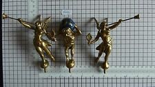 "NEW! ORIGINAL BRASS SET STATUES FOR WARMINK CLOCKS 4""  OR 10 CM TALL"