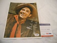 Gregory Peck In Person Signed Autographed Western 8x10  Photo PSA Certified