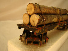 O scale Logging Car - custom weathered -watch couplers - lot 7