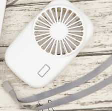 Mini Fan Portable USB Rechargeable Hand Held Air Conditioner Summer Cooler White