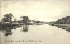 West Harwich Cape Cod Ma Herring River c1910 Postcard