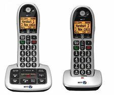 BT TWIN Digital Cordless Telephone Answering Machine, Caller Id -Twin Silver NEW