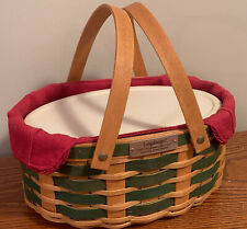 New ListingLongaberger Green Sweets & Treats Basket Liner And Serving Solutions Container