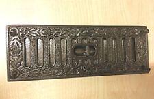 Cast Iron Ornate Decorative Victorian air Brick with Sliding Vent cover Repro