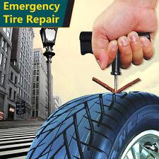 10x Car Van Tyre Repair Tubeless Seal Strip Plug Tire Puncture Recovery Kit New