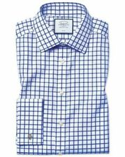 "Charles Tyrwhitt Slim Fit Twill Grid Check Royal Blue 16"" TD191 EE 12"