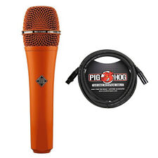 Telefunken M80 Dynamic Live Vocal Instrument Microphone Orange w/ 10ft Cable
