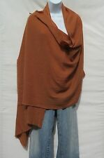100% Cashmere Himalayan Shawl/Scarf  Lightweight 1Ply 2Pad Handloomed Copper