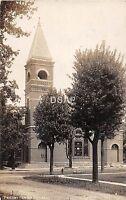 Indiana In Real Photo RPPC Postcard 1909 LIBERTY Presbyterian Church