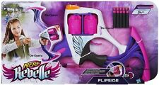 New Nerf Rebelle Flipside Bow & 10 Soft Darts Outdoor Blaster Official