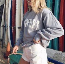 "Brandy Melville SUPER SOFT Blue ""NEWPORT"" Oversized crewneck sweatshirt"