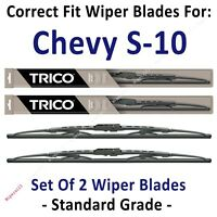 Wiper Blades 2-pk Standard Wipers fit 1994-2004 Chevrolet Chevy S-10 S10 30200x2