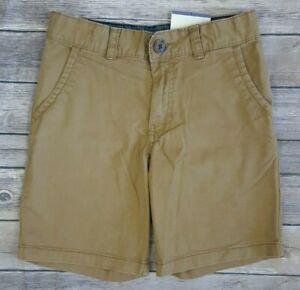Cat & Jack Boys 8 Stretch Flat Front School Uniform Chino Shorts Brown